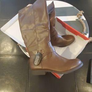 Style & Co riding boot sz 8.5.  NIB  Cognac